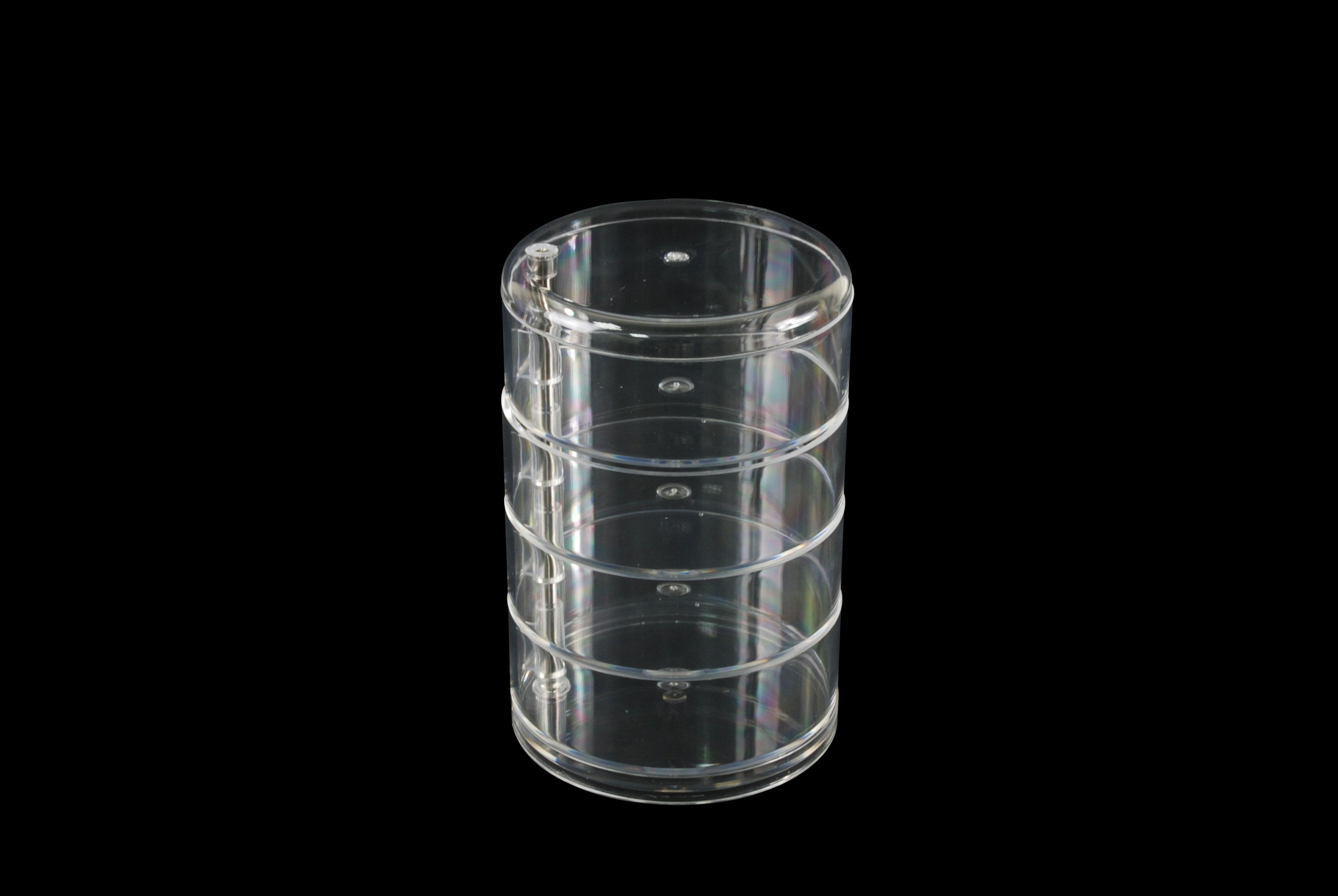【凱樂絲】圓形透明收納塑膠盒 0