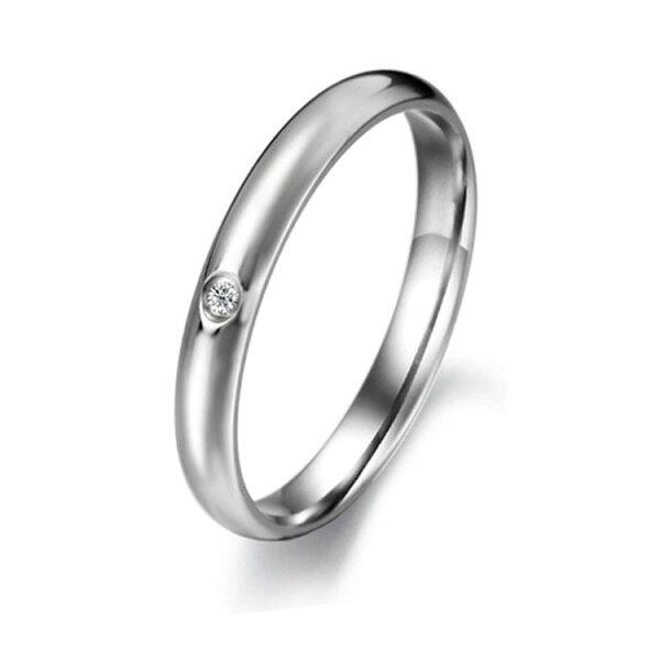最新款經典時尚水晶鑽造型女款鈦鋼戒指