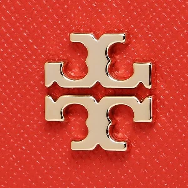 【Tory Burch】信封式壓釦長夾(黑/紅) 9