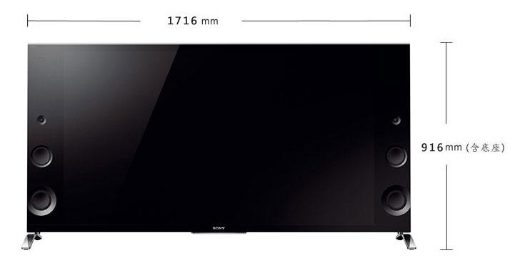 SONY 65型3D 4K智慧型連網電視 KD-65X9000B(日製)