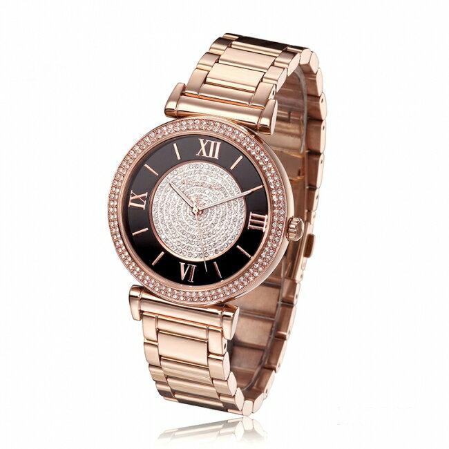 【MICHAEL KORS】正品 羅馬字母璀璨晶鑽-玫瑰金腕錶  MK3339 1