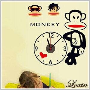 時鐘壁貼~Loxin大嘴猴壁貼時鐘~ ~  好康折扣