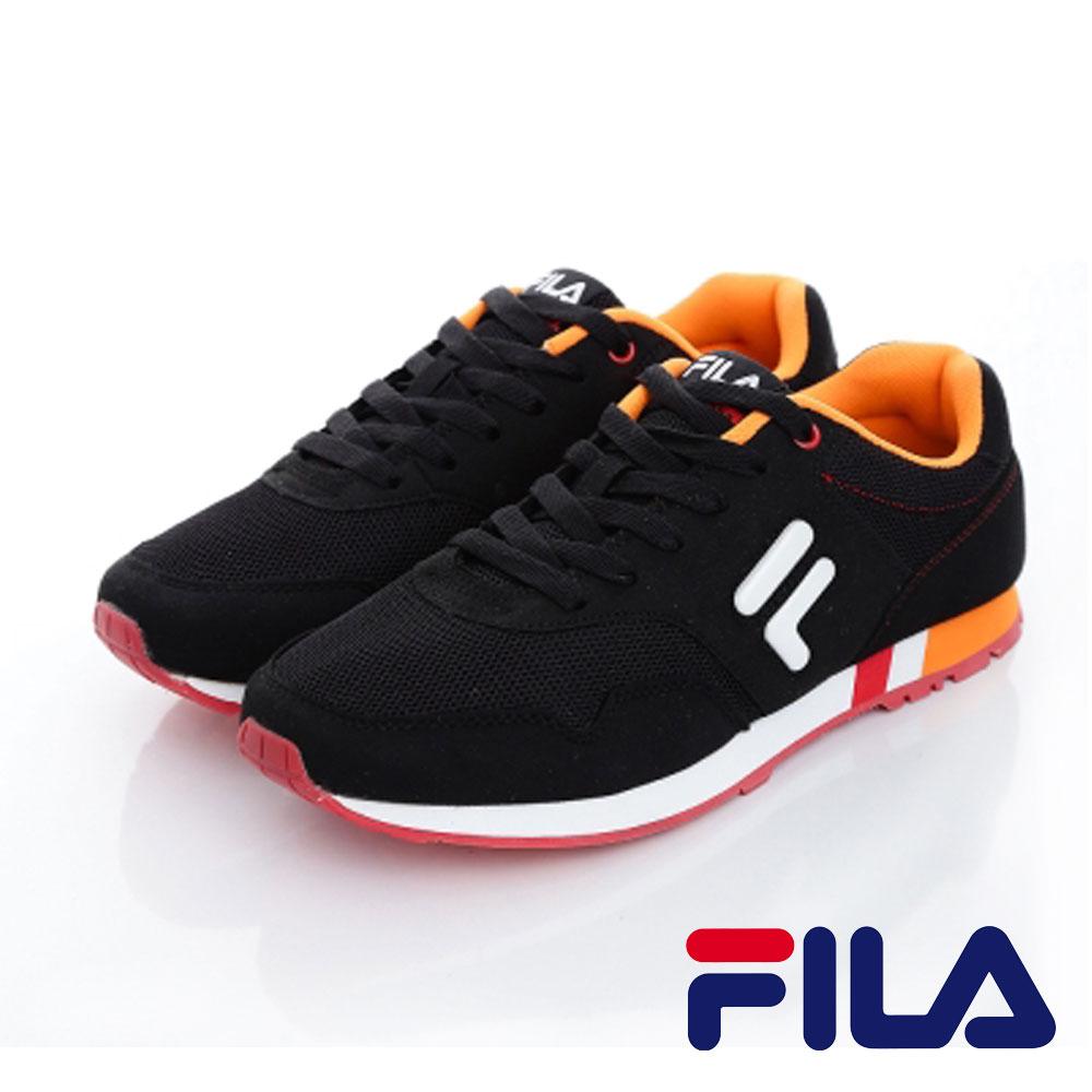 FILA  男款 復古網眼透氣多功能慢跑鞋系列 黑色 J908O-061 0