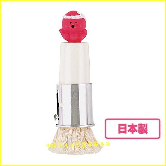 asdfkitty可愛家☆貝印章魚造型塗油刷-DS-1006-模具抹油-塗章魚燒機/氣炸鍋/炒菜鍋-日本製