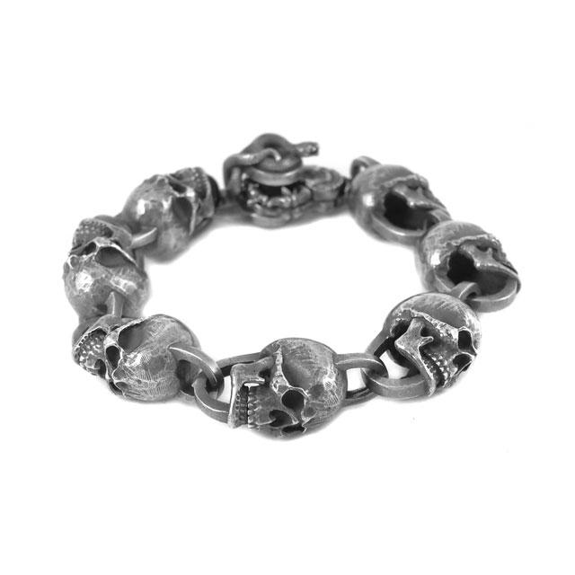【現貨商品】【MAD CULT】命運毀滅者骷髏純銀手環 M (MAD-B-05-M  0788450000) 0