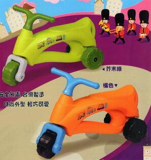 【淘氣寶寶】【CHING-CHING親親】法國號三輪學步車/助步車(綠、橘)CA-22