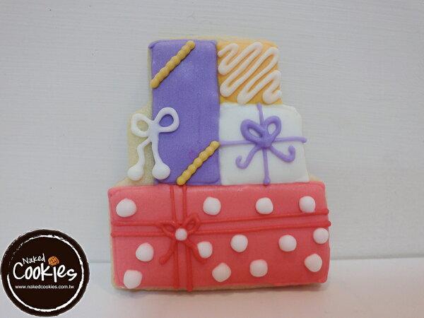 【裸餅乾Naked Cookies】生日禮物滿滿款6入-創意手工糖霜餅乾,婚禮/生日/活動/收涎/彌月