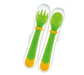 『121婦嬰用品館』辛巴 曲奇感溫兒童叉匙組 - 綠 0