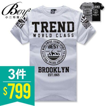 ☆BOY-2☆ 【ND4858】短袖T恤美式街頭符號印花TREND短T 0