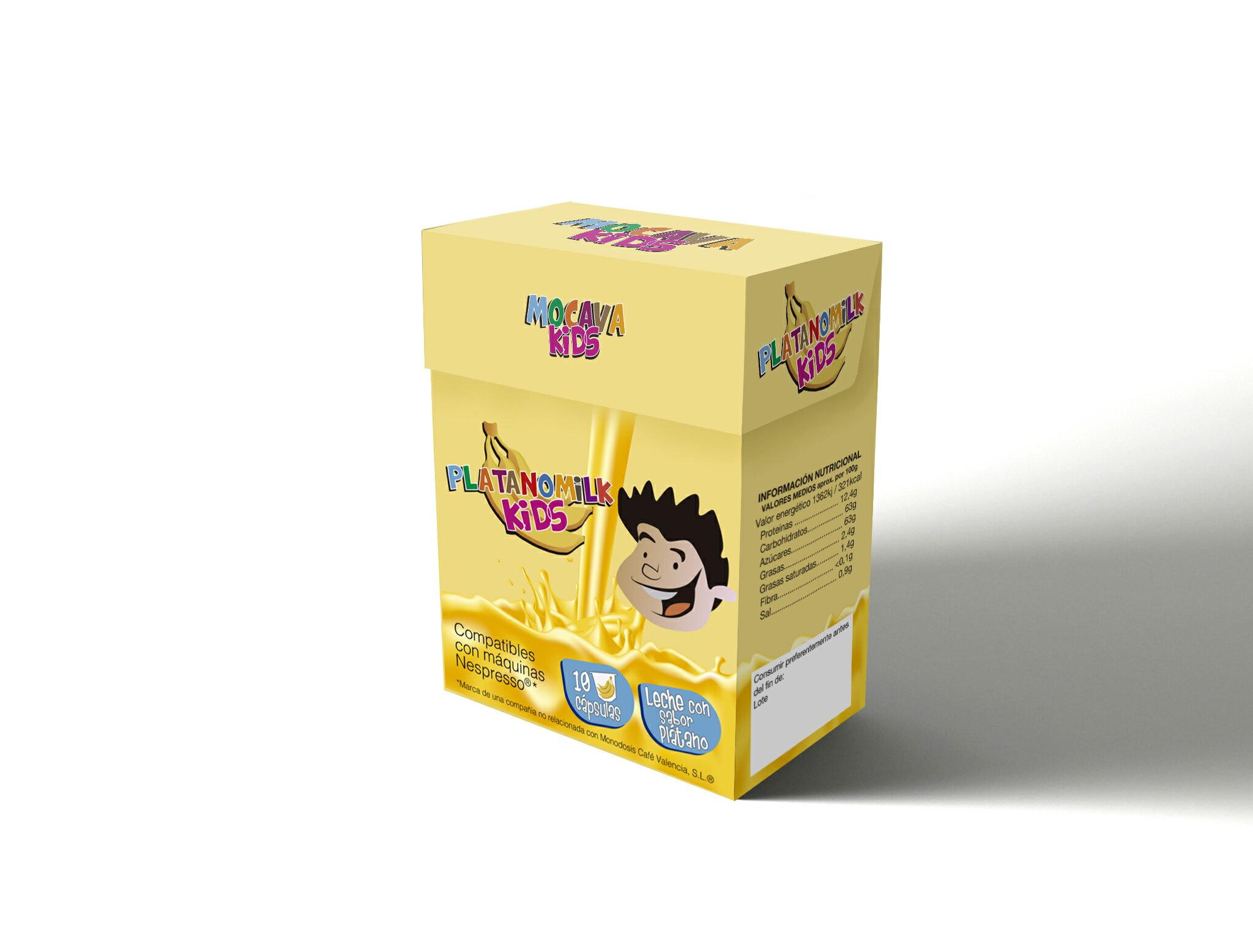 Pack 120 cápsulas PLATANO MILK KIDS compatibles con Nespresso 0