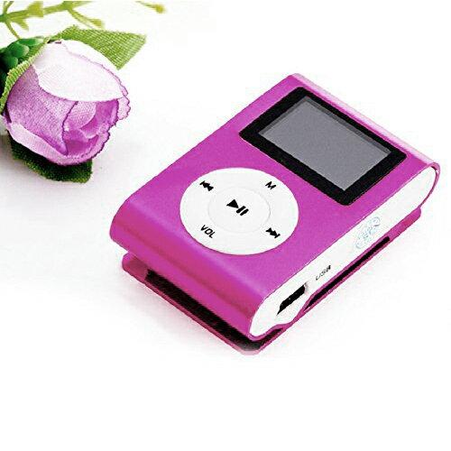MP3 ROSA CON PANTALLA DIGITAL, FM RADIO, MP3/WMA MUSIC, AUDIO IN 0