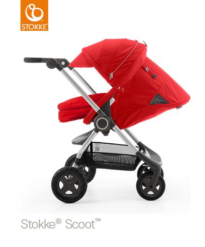 【本月贈市價$1050杯架】【贈Borny安全帶護套(花色隨機)】Stokke Scoot 2代嬰兒手推車(紅色) 2