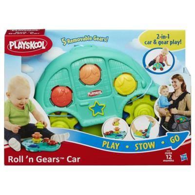 《★美國 PLAYSKOOL兒樂寶》二合一攜帶式齒輪小車遊戲組 美國代購 溫媽媽