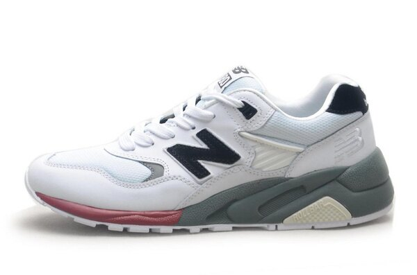 NEW BALANCE 580反毛皮運動休閒鞋慢跑鞋子黑白男鞋