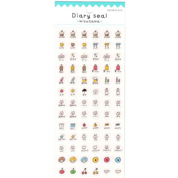 *小徑文化*日本進口 mizutama原創 手帳專用貼紙 - 日常生活 ( 35-601 )