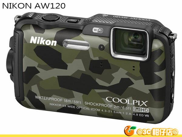 送32G+副電+漂浮手腕帶等好禮 Nikon coolpix AW120 防水機 國祥公司貨 WIFI 潛水 18米 耐寒