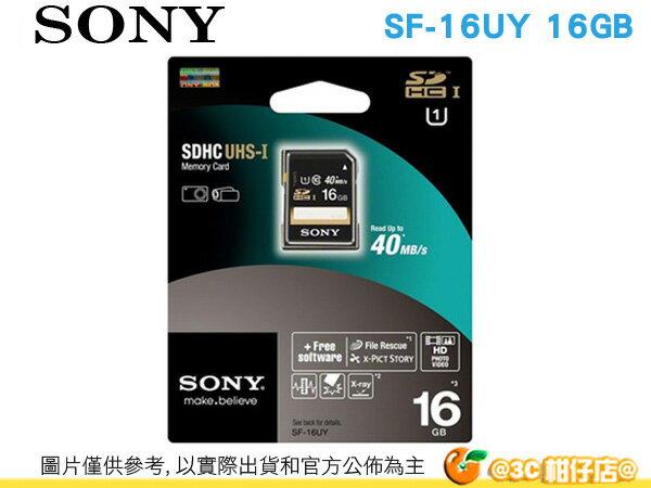 Sony SF-16UY SDHC 16GB Class10 記憶卡 台灣索尼公司貨