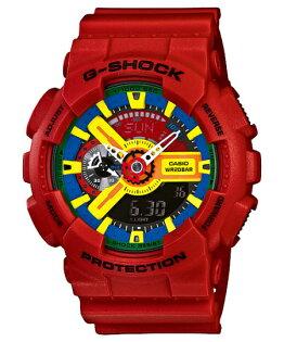 CASIO G-SHOCK GA-110FC-1ADR紅樂高流行腕錶/51mm