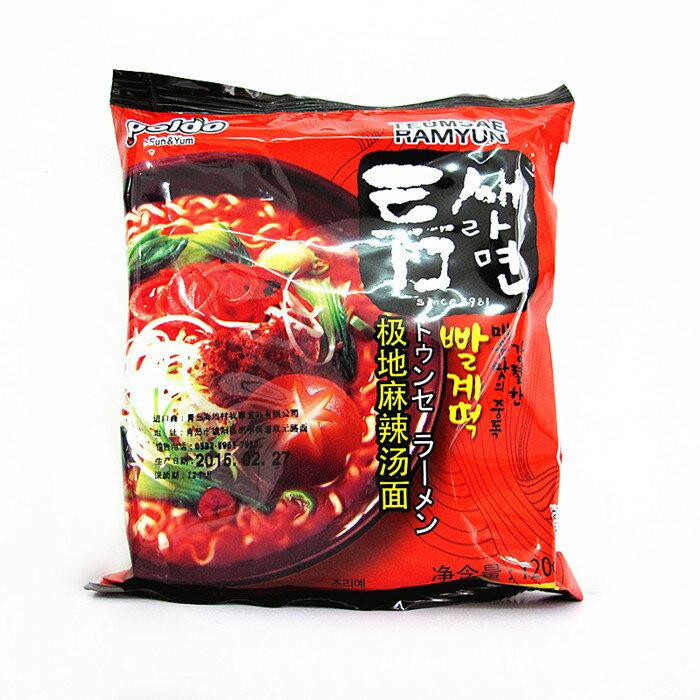 有樂町進口食品 韓國泡麵~Paldo韓國極地麻辣湯麵~單包 648436100613 0