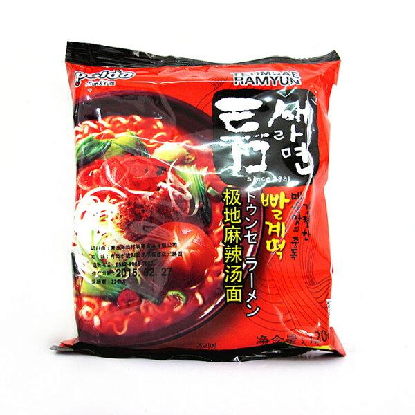 有樂町進口食品 韓國泡麵~Paldo韓國極地麻辣湯麵~單包 648436100613