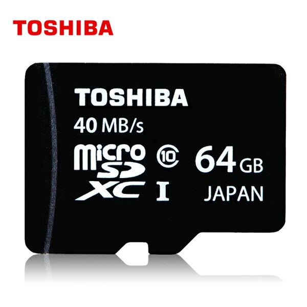 可傑 Toshiba MicroSDXC 64GB 40MB UHS-1 Class10 原廠公司貨