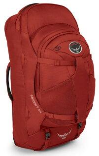 【鄉野情戶外專業】 Osprey |美國|  Farpoint55 自助旅行子母背包/多功能自助行背包 子母包-寶石紅S/M/Farpoint 55 【容量55L】