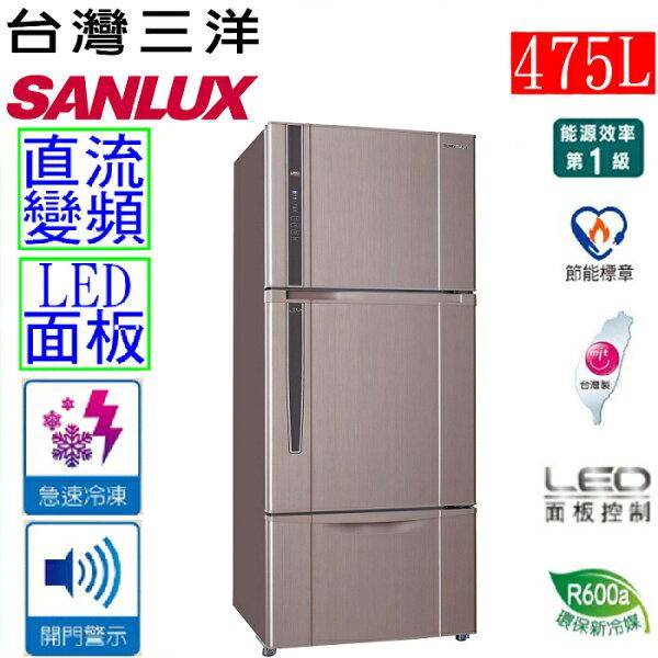 【三洋 SANLUX】475公升直流變頻三門冰箱(SR-B475CV)