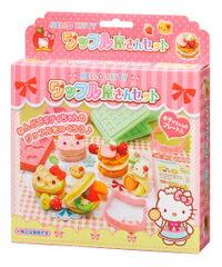 日本銀鳥 GINCHO [Hello Kitty]  鬆餅屋/黏土壓模/造型印模/玩具模具組(不含黏土)