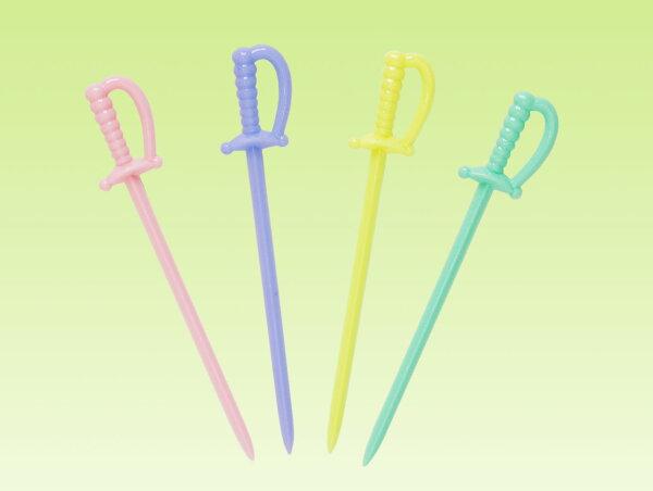 水果叉、水果針 D-5B08 劍形果針 - 300pcs/包(4色)