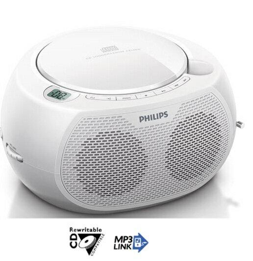 PHILIPS 飛利浦 CD播放機(白色) AZ100W / AZ-100W