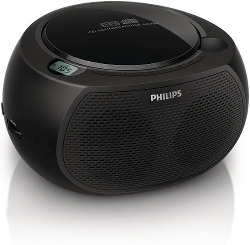 PHILIPS 飛利浦 黑旋風USB/CD手提音響 AZ380 / AZ-380