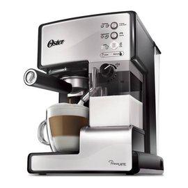 ◤贈OSTER磨豆機+LAICA 濾水壺◢ 美國 OSTER 奶泡大師義式咖啡機 -乳白色 BVSTEM6601W