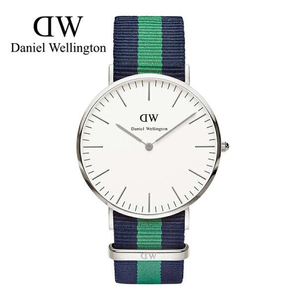 瑞典正品代購 Daniel Wellington 0205DW 銀 尼龍 帆布錶帶 男女錶 手錶腕錶 40MM