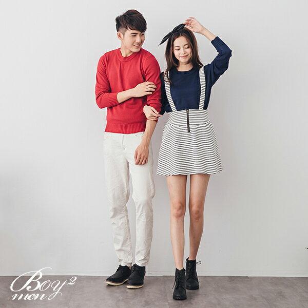 ☆BOY-2☆ 【NR91031】情侶韓版休閒素面針織毛衣 1