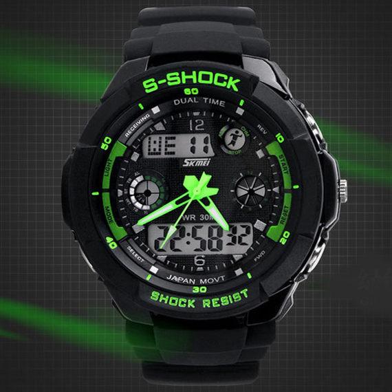 《好時光》S-SHOCK 飛行概念個性大面徑 防水 雙顯示 電子錶/男錶/運動錶