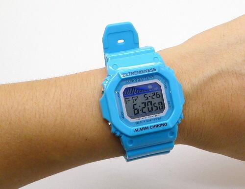 《好時光》長方形 經典風格 馬卡龍 防水 運動風 電子錶/男錶/女錶/兒童錶 (類似卡西歐款)