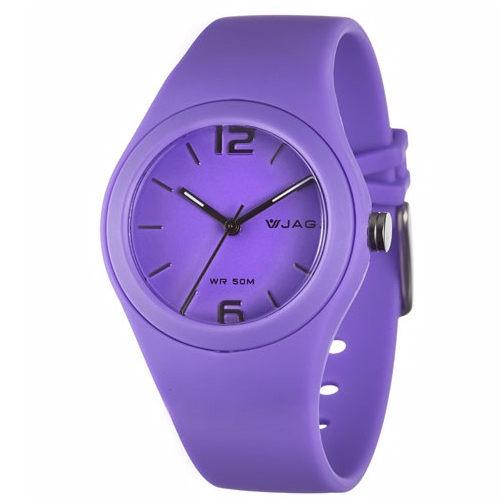 《好時光》 JAGA 捷卡 AQ911馬卡龍螢光色系 防水指針石英女錶/兒童錶-開學-游泳 紫