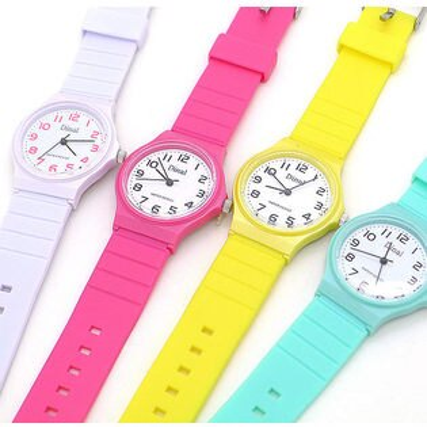 《好時光》Dinal  馬卡龍 超薄輕量清晰數字防水石英女錶/男錶- 類似卡西歐風格