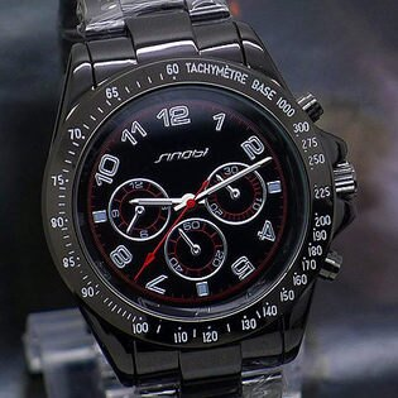 賽車錶 運動錶風格 仿三眼裝飾 似勞X士款 清晰數字男錶 女錶 對錶 (單支價格)《好時光》SINOBI