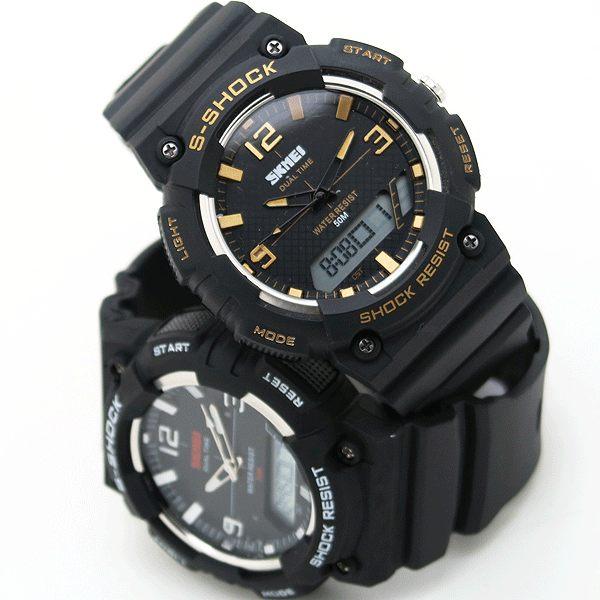 《好時光》SKMEI 前衛潮流 簡約數字 個性大面徑 防水 雙顯示 電子錶/男錶/運動錶 s-shock