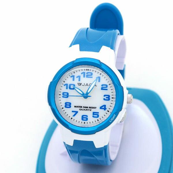 《好時光》 JAGA 捷卡 AQ71 清晰數字 冷光 防水指針石英女錶/兒童錶-開學-游泳(粉/紫/藍/黑 )