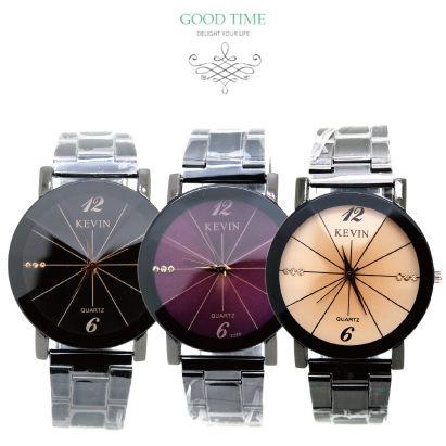 《好時光》KEVIN  魅力四射 晶鑽時刻 立體切割鏡面 時尚造形錶/男錶/女錶/對錶-單支價格
