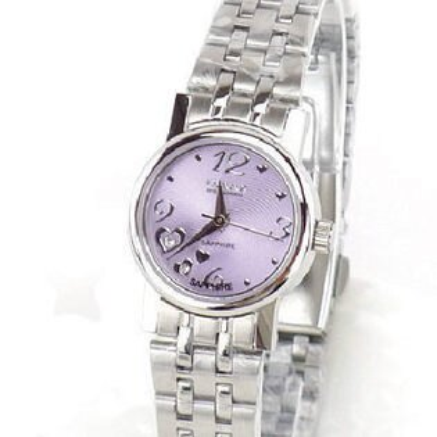 《好時光》OMAX 歐瑪士 心動時刻3.6.9.12 水鑽時刻時尚女錶-紫色-水晶鏡面