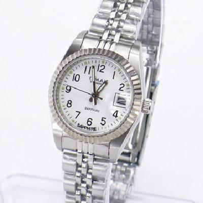 《好時光》OMAX 歐瑪士 白色清晰數字(日期窗)時尚女錶-藍寶石水晶鏡面
