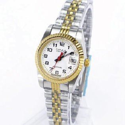 《好時光》OMAX 毆瑪士 中金款清晰數字(日期窗)時尚女錶-藍寶石水晶鏡面