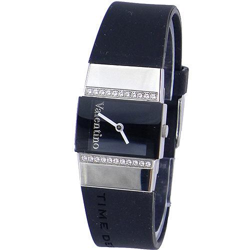 《好時光》Emilio Valentino 范倫鐵諾 經典品味  輕巧質感  爪鑲晶鑽時尚男錶/女錶-藍寶石水晶鏡面