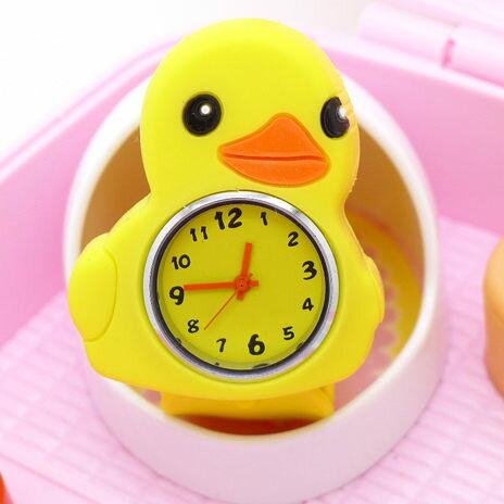 《好時光》黃色小鴨鴨  拍拍錶  捲尺錶  自動捲尺 動物造型手錶
