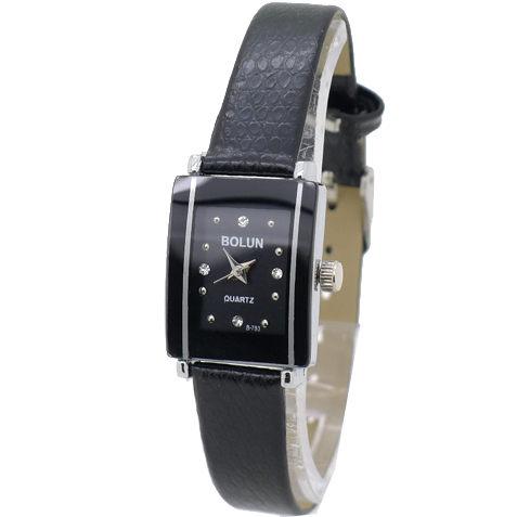 《好時光》BOLUN 長方型經典陶瓷造型框 晶鑽時刻 時尚女錶 皮錶帶