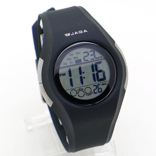 《好時光》JAGA 捷卡 M984 流線運動風大數字冷光多功能電子錶/男錶-防水100M 開學游泳