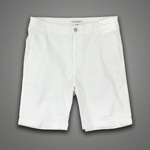 美國百分百【全新真品】Calvin Klein 短褲 CK 休閒褲 百慕達褲 五分褲 燈芯絨 9吋 白色 男 29 31腰 F288